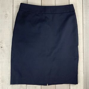 J. Crew navy career pencil skirt